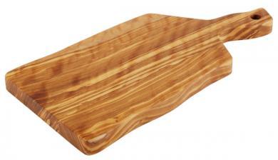 planche de service en bois d'olivier 25 x 12,5 x 1,5 cm