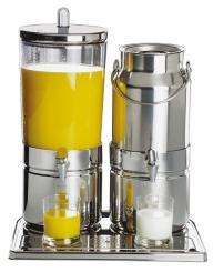 distributeur mixte à lait et à jus de fruit