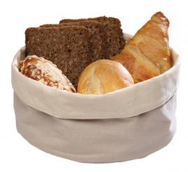 corbeille à pain en toile 17 x 17 x 11 cm