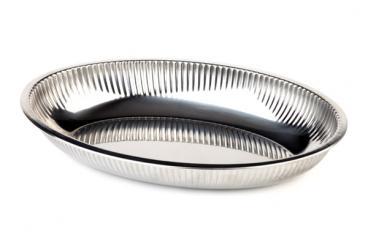 corbeille ovale inox