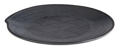 """assiette """"DARK WAVE"""" 22 x 22 x 2 cm"""